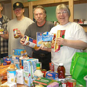Food pantries filled from donations