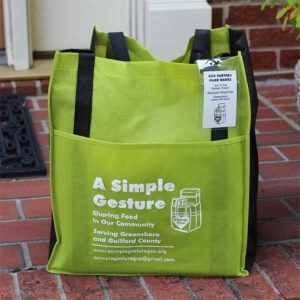 A Simple Gesture Greensboro Green Bag